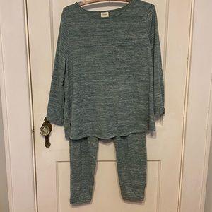 Soma 2 piece heather green pajama set M